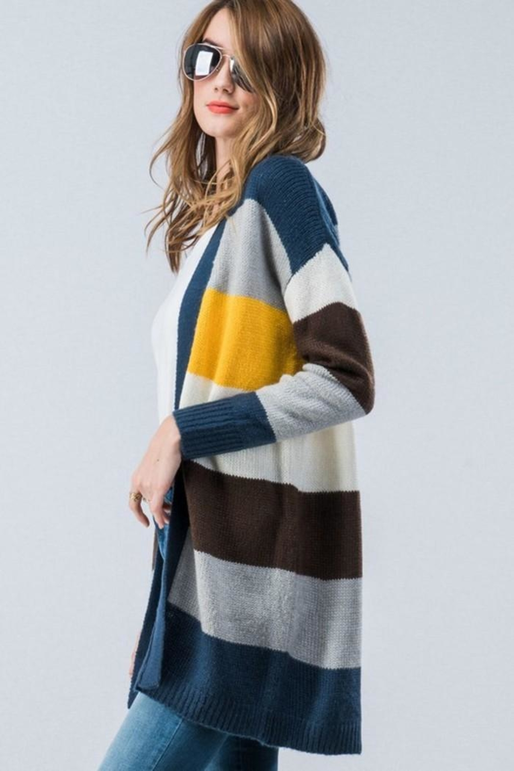 Trend:notes Cardigan Multi - Side Cropped Image