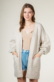 Very J  Cardigan with Balloon Sleeves - Product Mini Image
