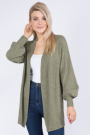 Dreamers Cardigan With Balloon Sleeves - Product Mini Image