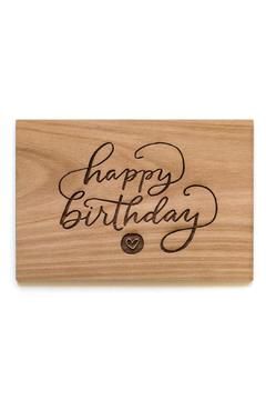 Shoptiques Product: Wooden Birthday Card