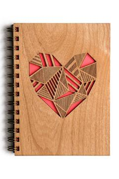 Shoptiques Product: Wood Heart Journal