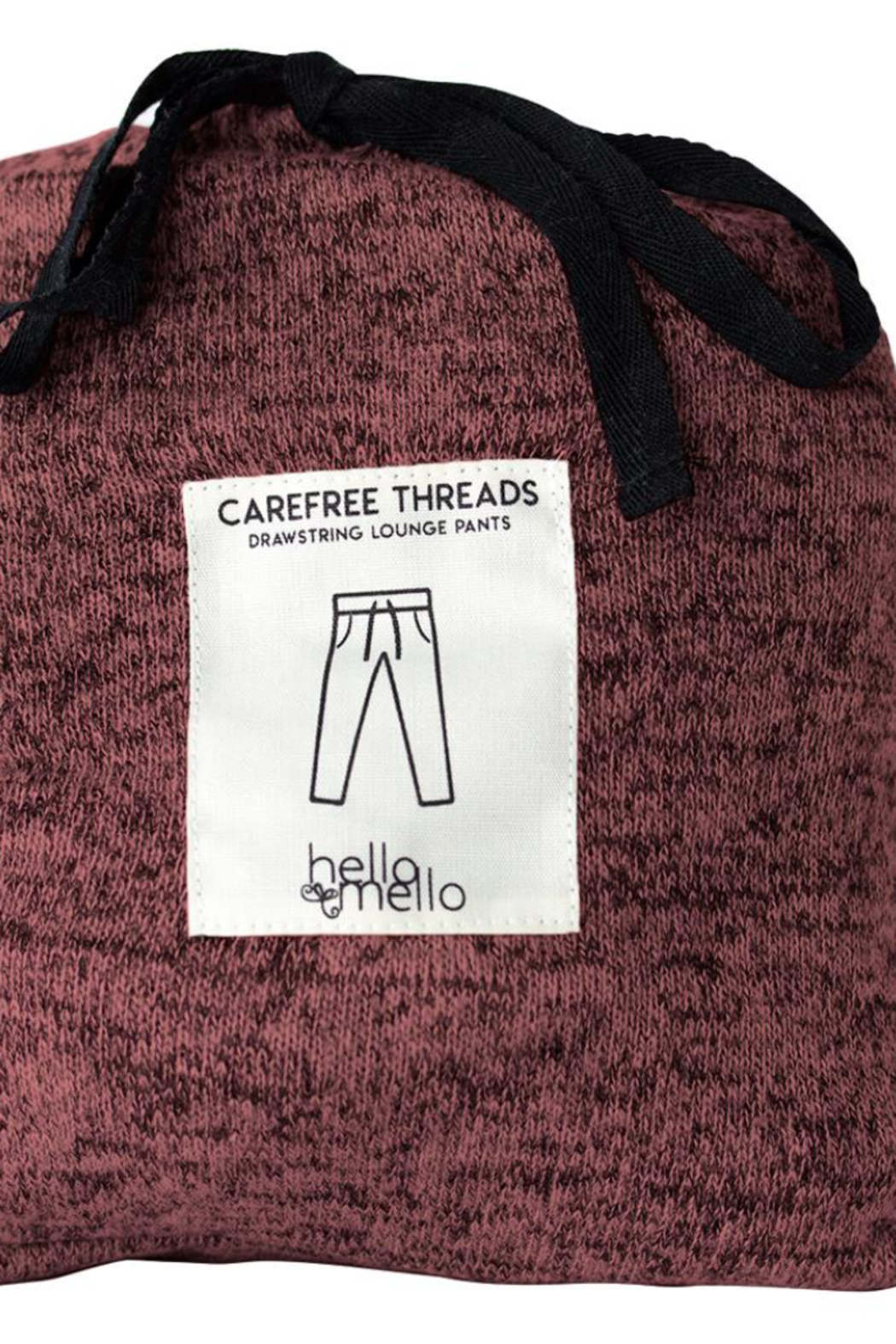 Hello Mello Carefree Threads Lounge Pants - Back Cropped Image