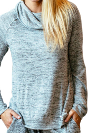 Hello Mello Carefree Threads Lounge Top - Front full body