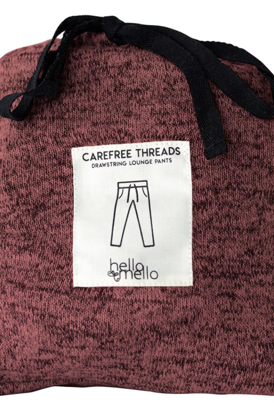 Hello Mello Carefree Threads Lounge Top - Back Cropped Image