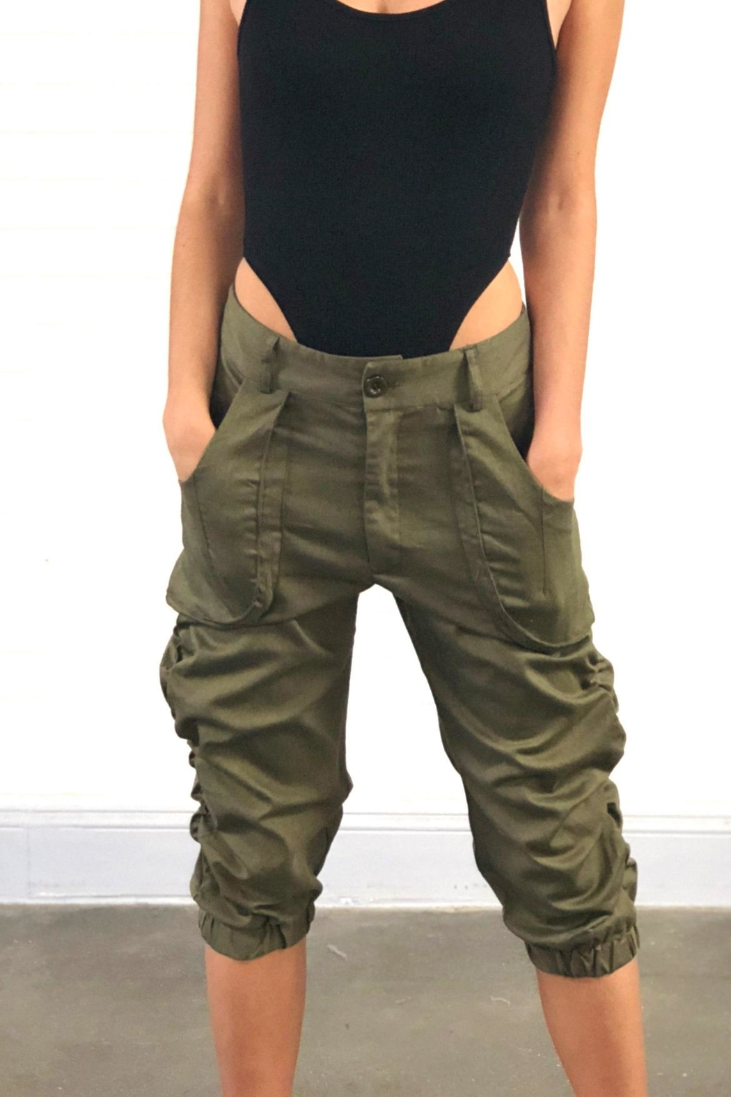 Better Be Cargo Capri Pants - Front Cropped Image
