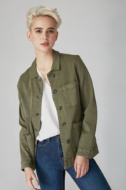 Lola Jeans Cargo Jacket - Front cropped