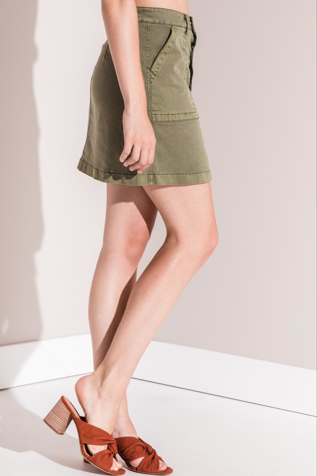 rag poets Cargo Mini Skirt - Back Cropped Image