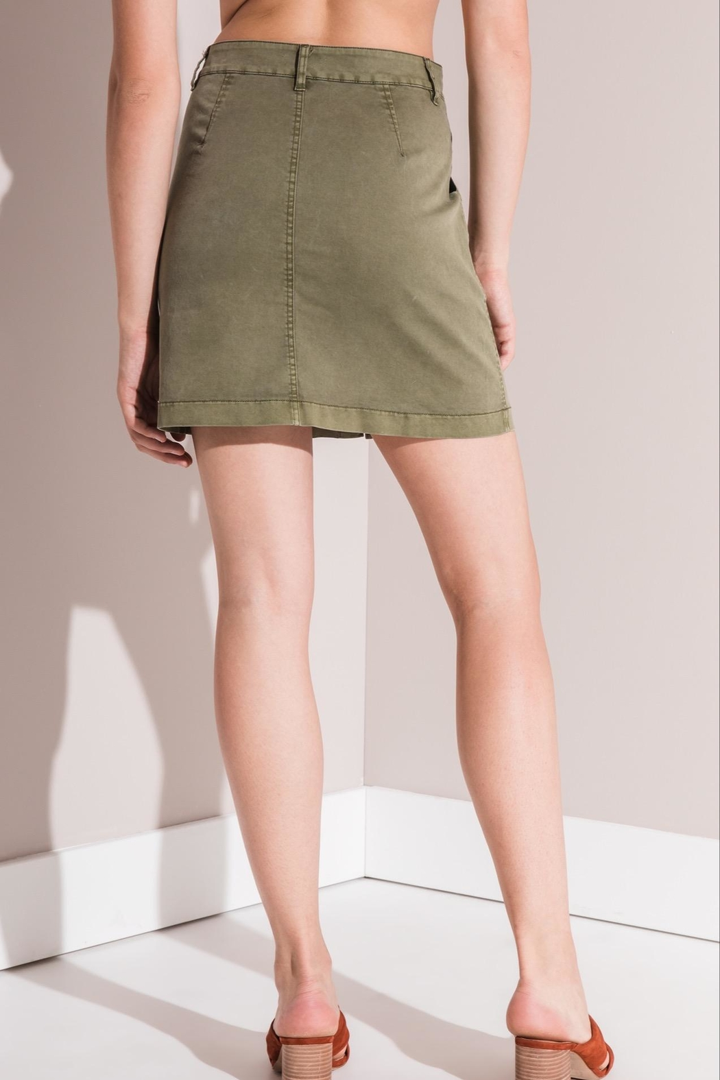 rag poets Cargo Mini Skirt - Front Full Image