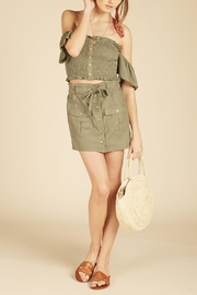 Vintage Havana Cargo Mini Skirt - Side cropped
