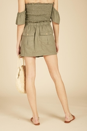 Vintage Havana Cargo Mini Skirt - Front full body