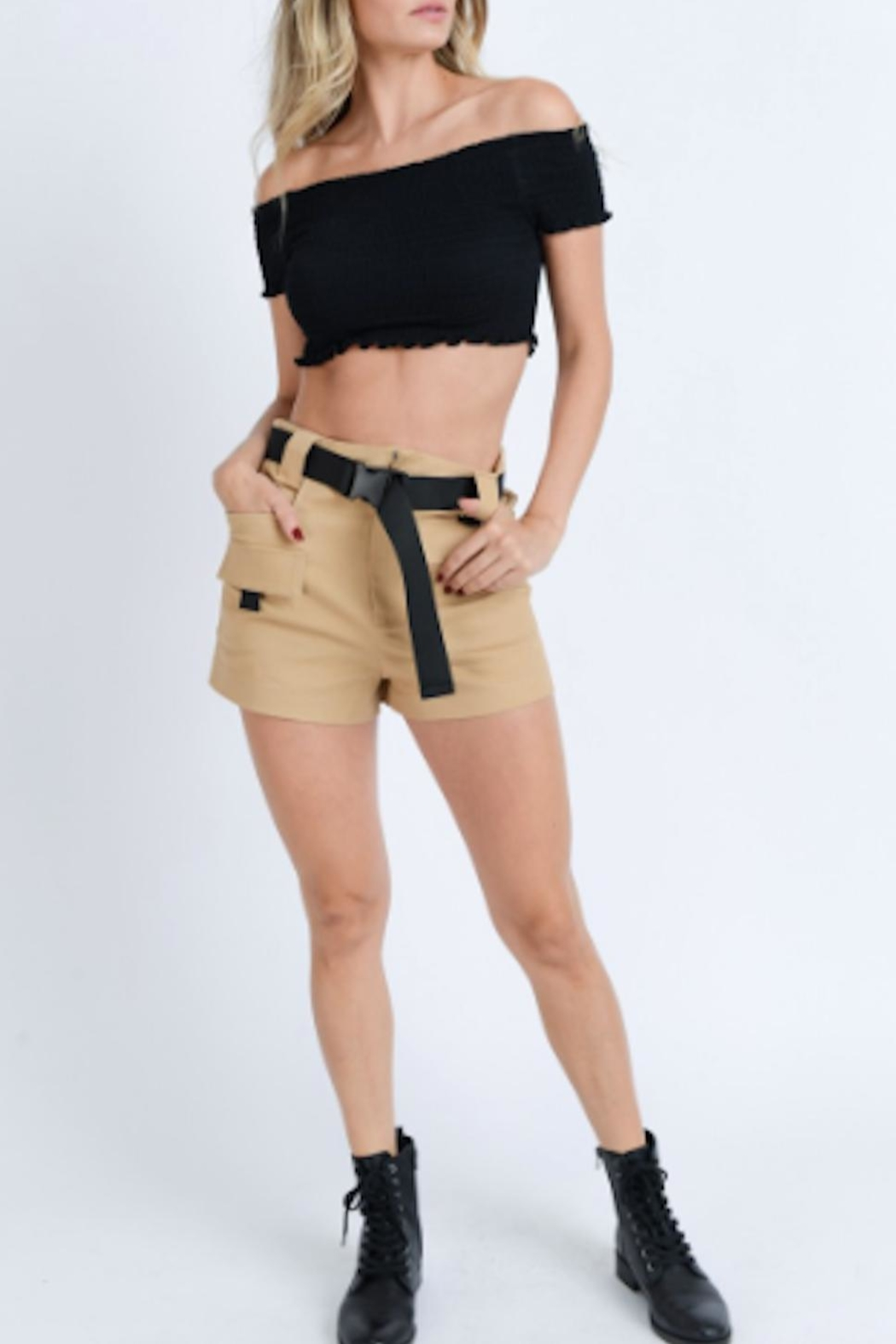 TIMELESS Cargo Shorts - Front Cropped Image