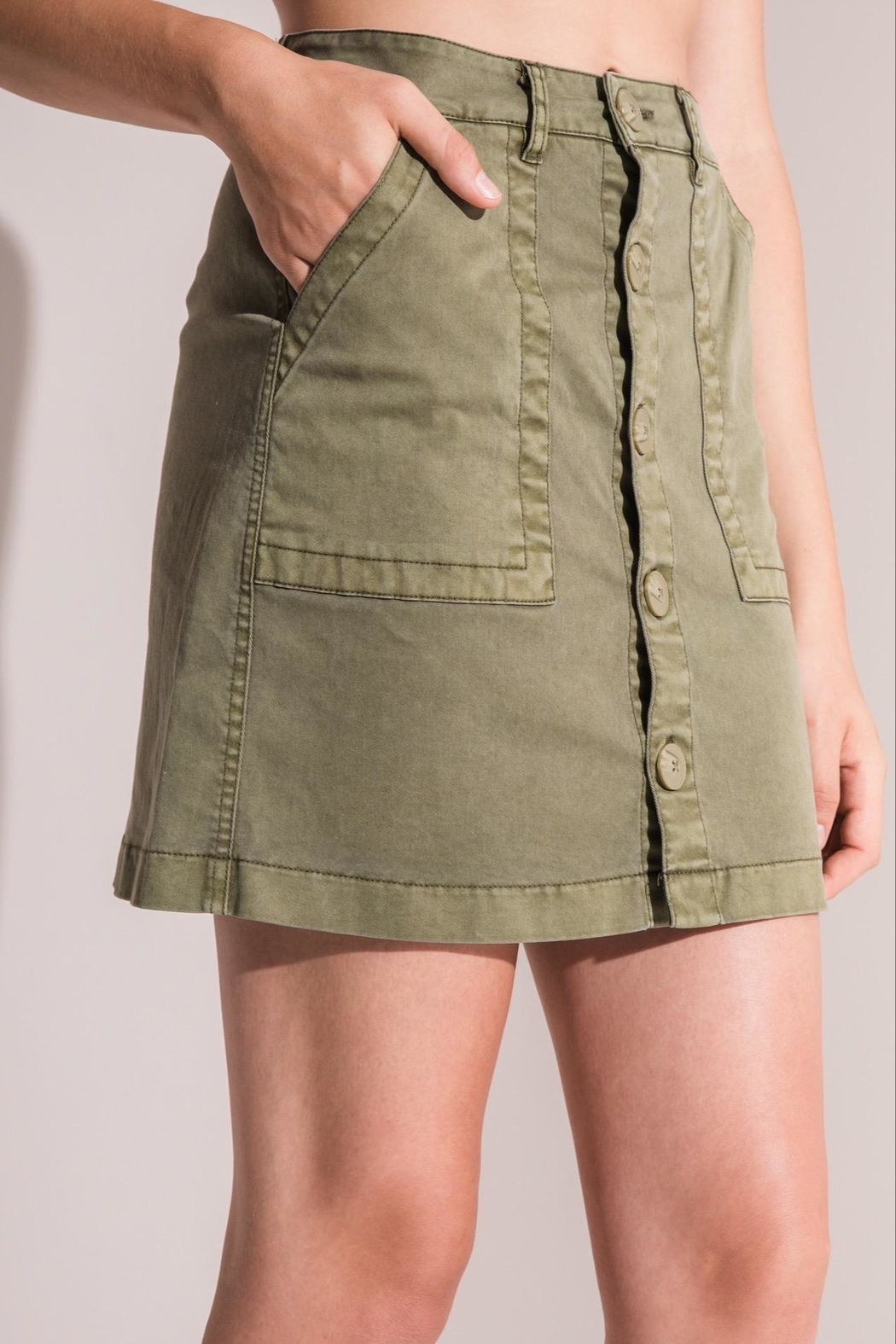 rag poets Cargo Skirt - Front Cropped Image