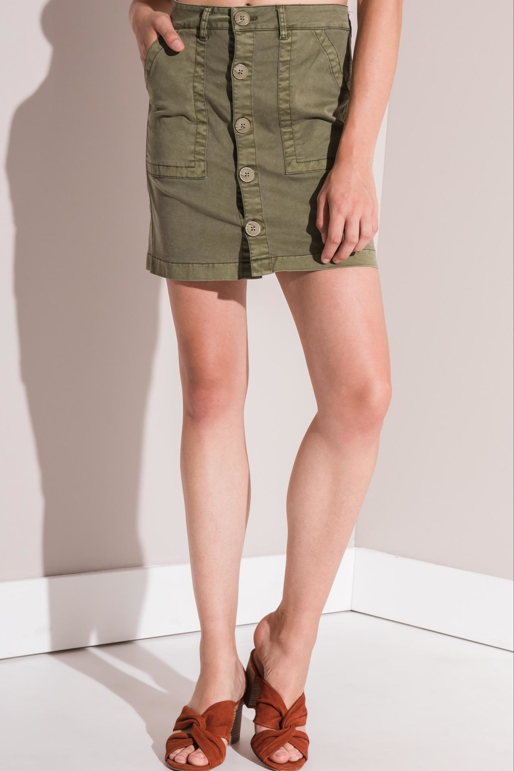 rag poets Cargo Skirt - Side Cropped Image