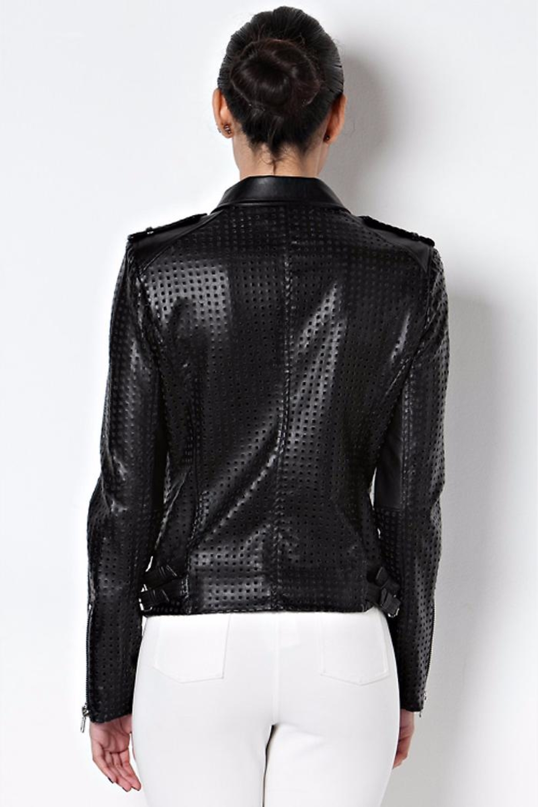 Caribbean Queen Motorcycle Jacket - Side Cropped Image