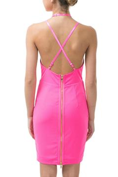 Caribbean Queen Neon-Pink V-Strappy Dress - Alternate List Image