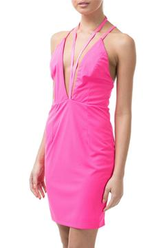 Caribbean Queen Neon-Pink V-Strappy Dress - Product List Image