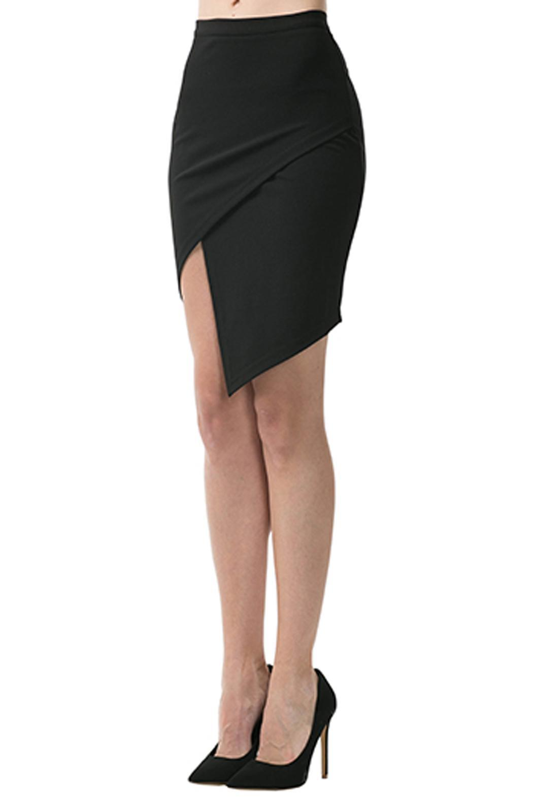 Caribbean Queen Origami Pencil Skirt - Front Full Image