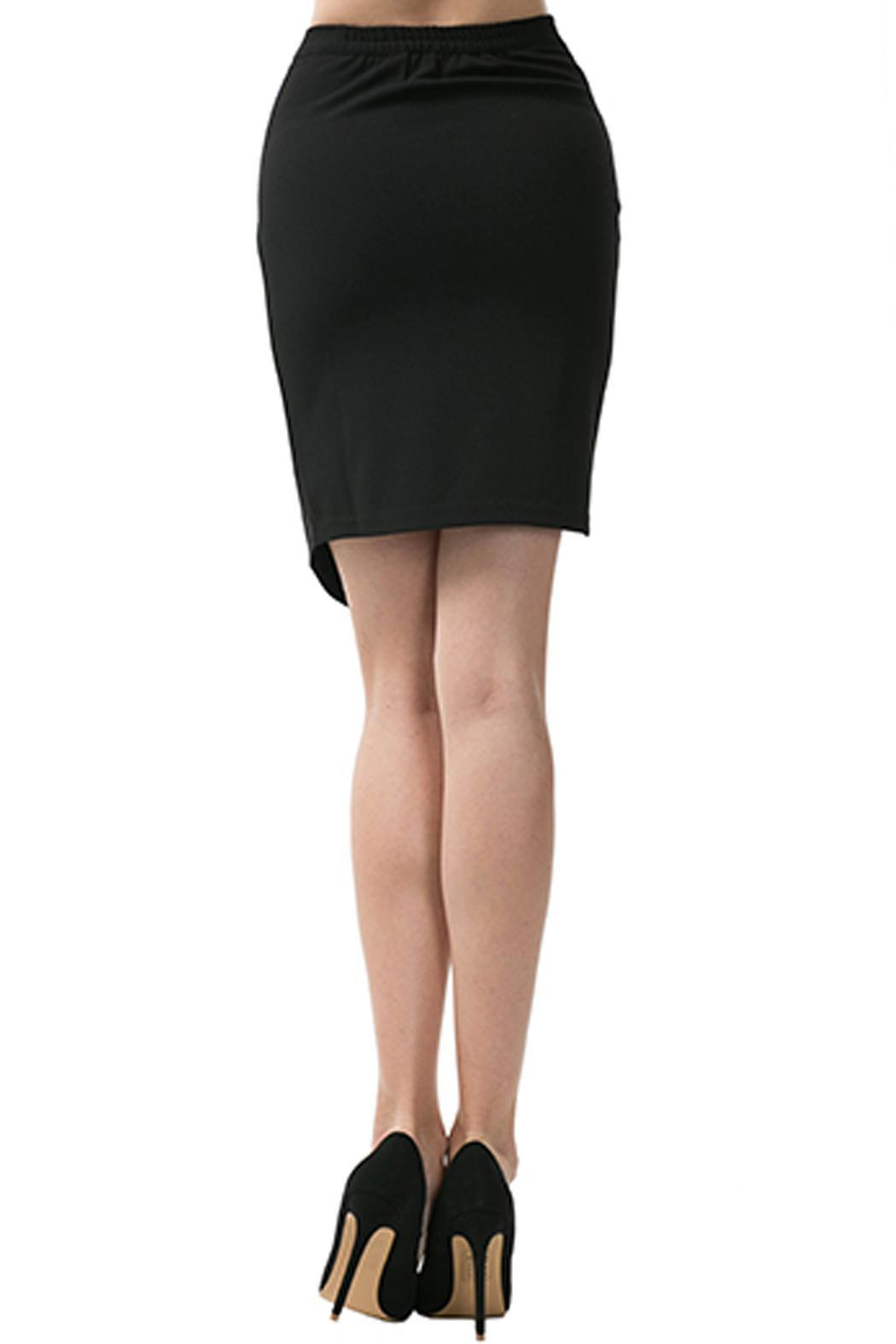 Caribbean Queen Origami Pencil Skirt - Back Cropped Image