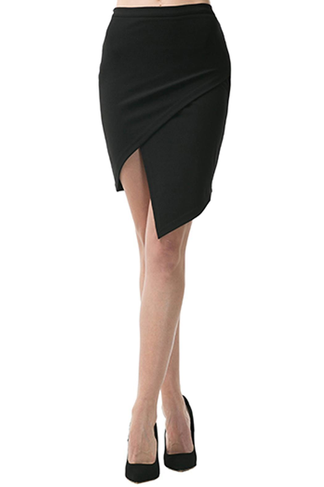 Caribbean Queen Origami Pencil Skirt - Front Cropped Image