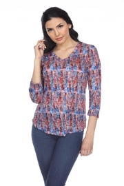 Carine Abstract Crinkle Top - Product Mini Image