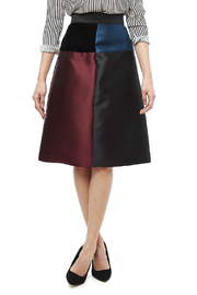Carine Color Block Skirt - Product Mini Image