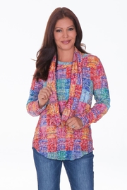 Carine Colorful Crinkle Top - Front cropped