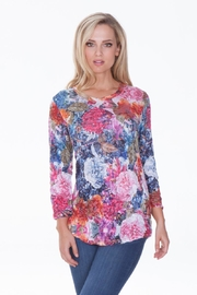 Carine Floral Crinkle Top - Product Mini Image