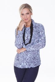 Carine Flower Crinkle Top - Product Mini Image