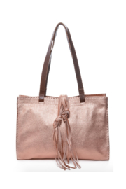 Carla Mancini Carmel Tote With Contrast Stitch - Product Mini Image
