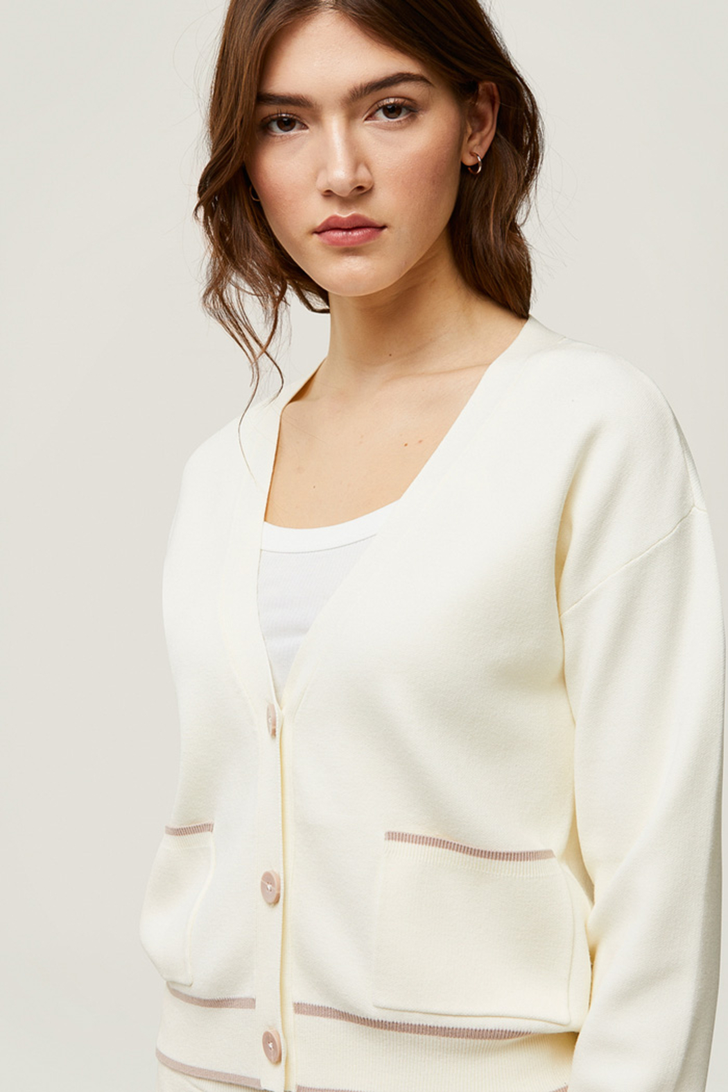 Soia & Kyo Carla Sustainable Knit Cardigan - Side Cropped Image