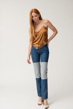 Carleen Two-Tone Jeans - Product List Image