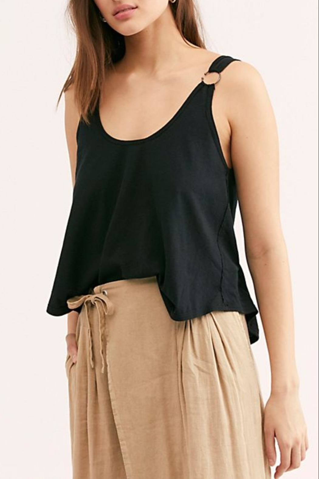 Free People Carly Tank Black - Front Cropped Image