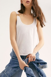 Free People Carly Tank White - Front cropped