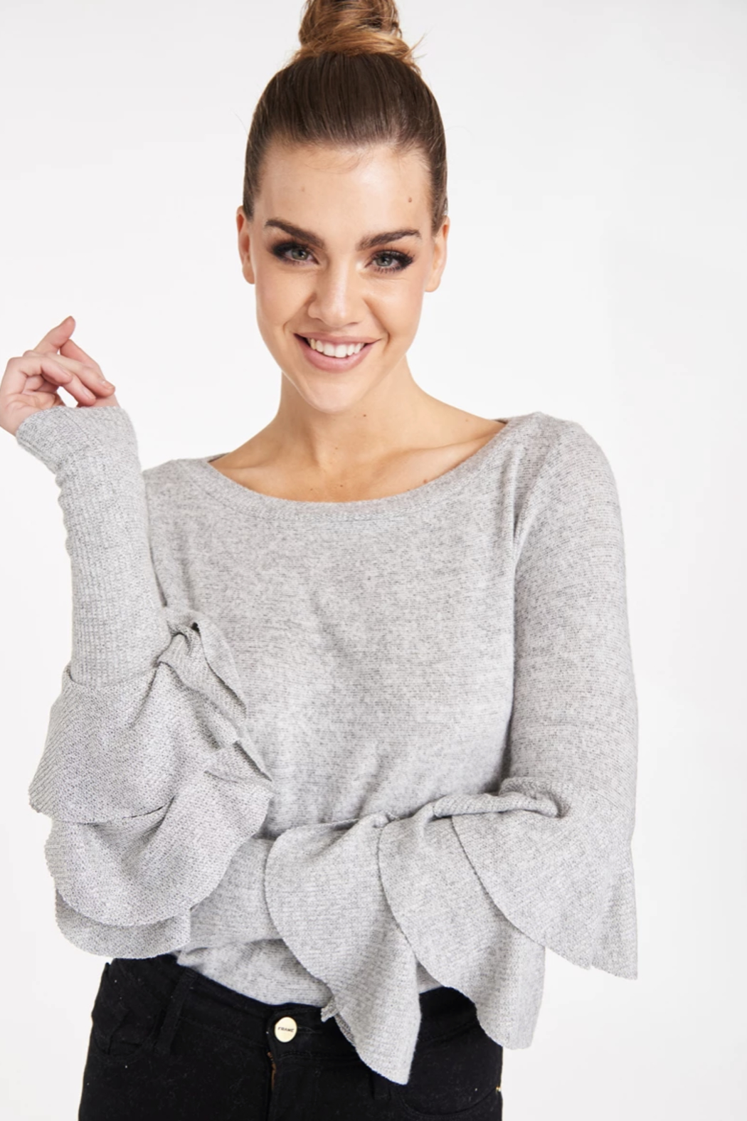 LaMade Carmel Ruffle Top - Front Cropped Image