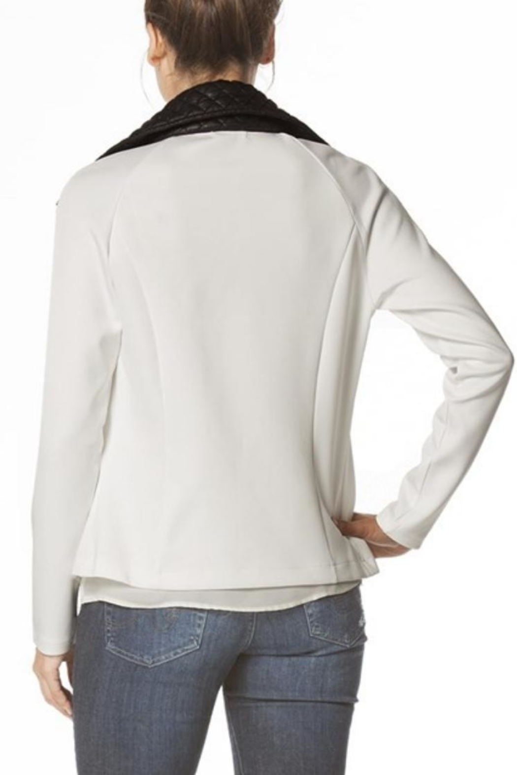 Carmen Quilted Contrast Jacket - Front Full Image