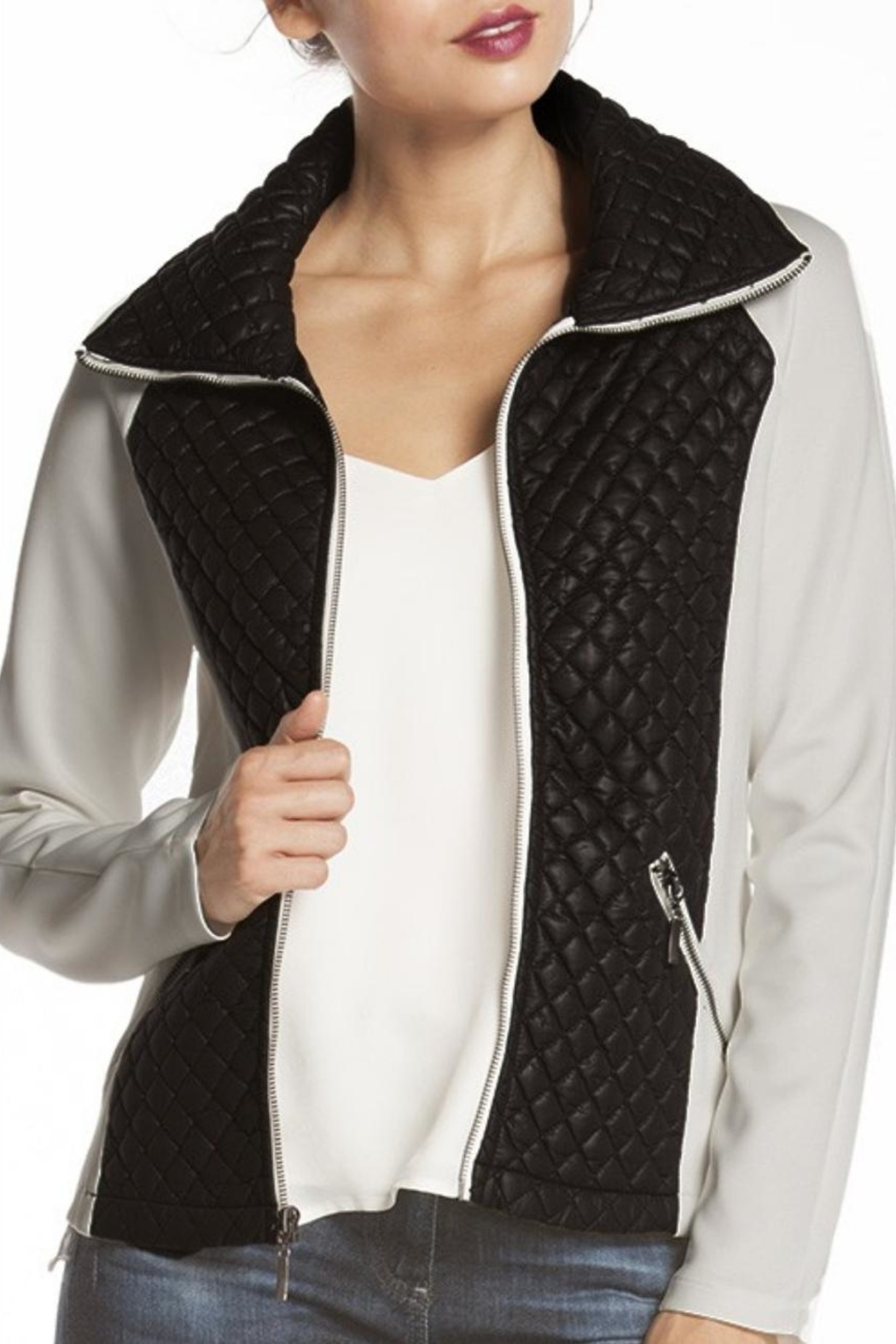 Carmen Quilted Contrast Jacket - Main Image