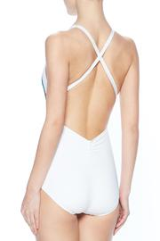 Carmen Marc Valvo High Neck One Piece - Front full body