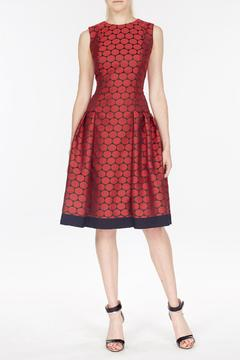 Carmen Marc Valvo Jacquard Dress - Product List Image