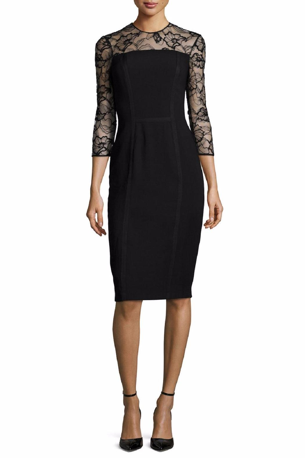 Carmen Marc Valvo Lace Trim Dress - Main Image