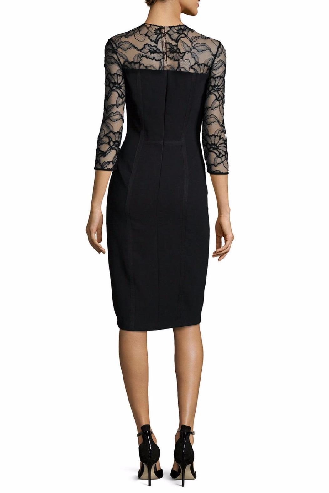 Carmen Marc Valvo Lace Trim Dress - Front Full Image