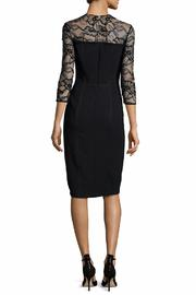 Carmen Marc Valvo Lace Trim Dress - Front full body