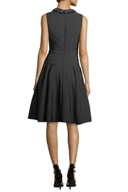 Carmen Marc Valvo Sleeveless Crepe Dress - Front full body