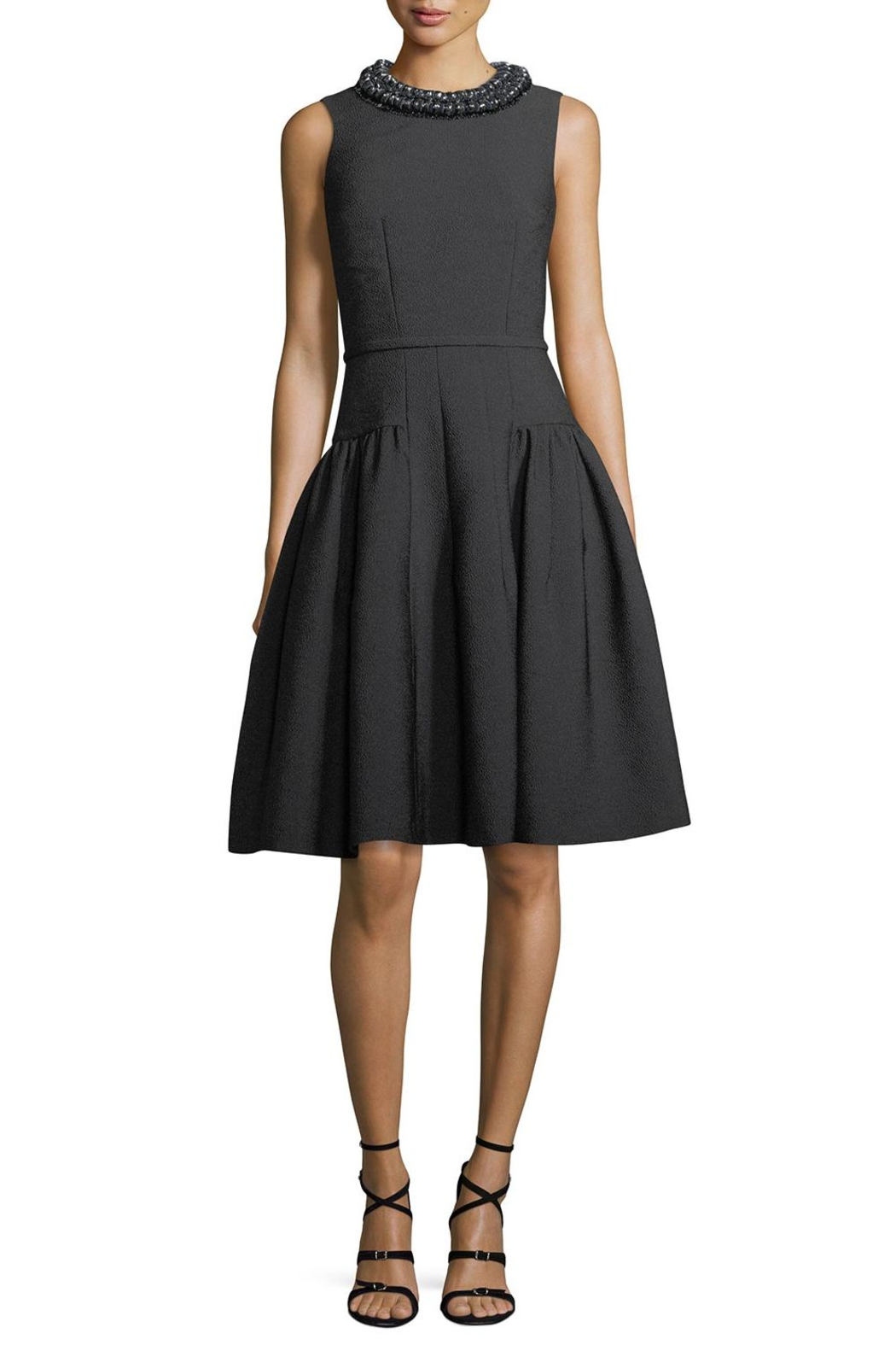 Carmen Marc Valvo Sleeveless Crepe Dress - Main Image