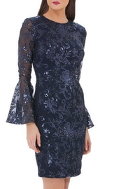Carmen Marc Valvo Infusion Long Sleeve Dress - Front cropped