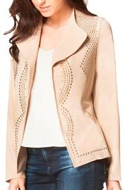Carmin Beige Studded Jacket - Product Mini Image