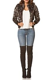Carmin Leopard Print Jacket - Product Mini Image