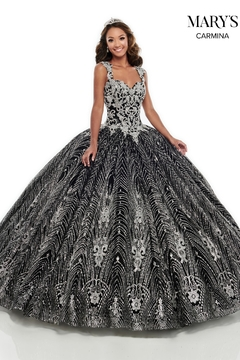 Mary's Bridal Carmina Quinceanera Dress in Black/Silver - Alternate List Image