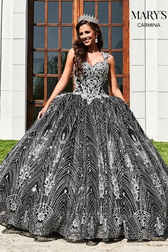 Mary's Bridal Carmina Quinceanera Dress in Black/Silver - Product List Image