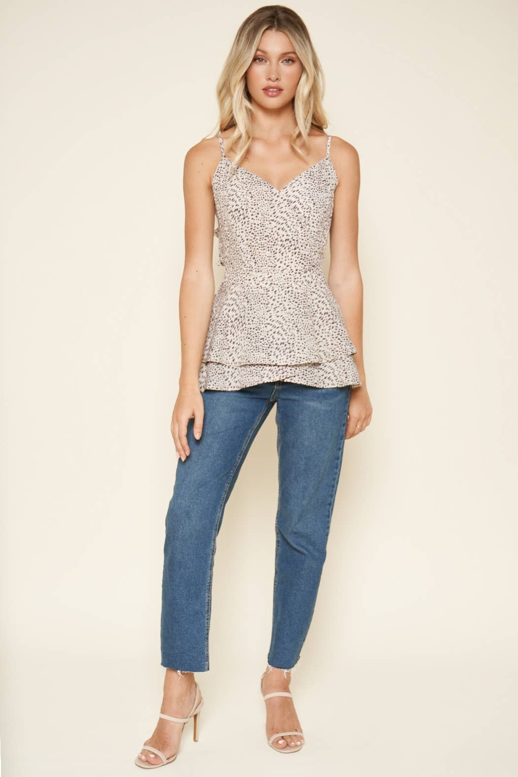Sugarlips Carnaby Leopard Cami Top - Back Cropped Image