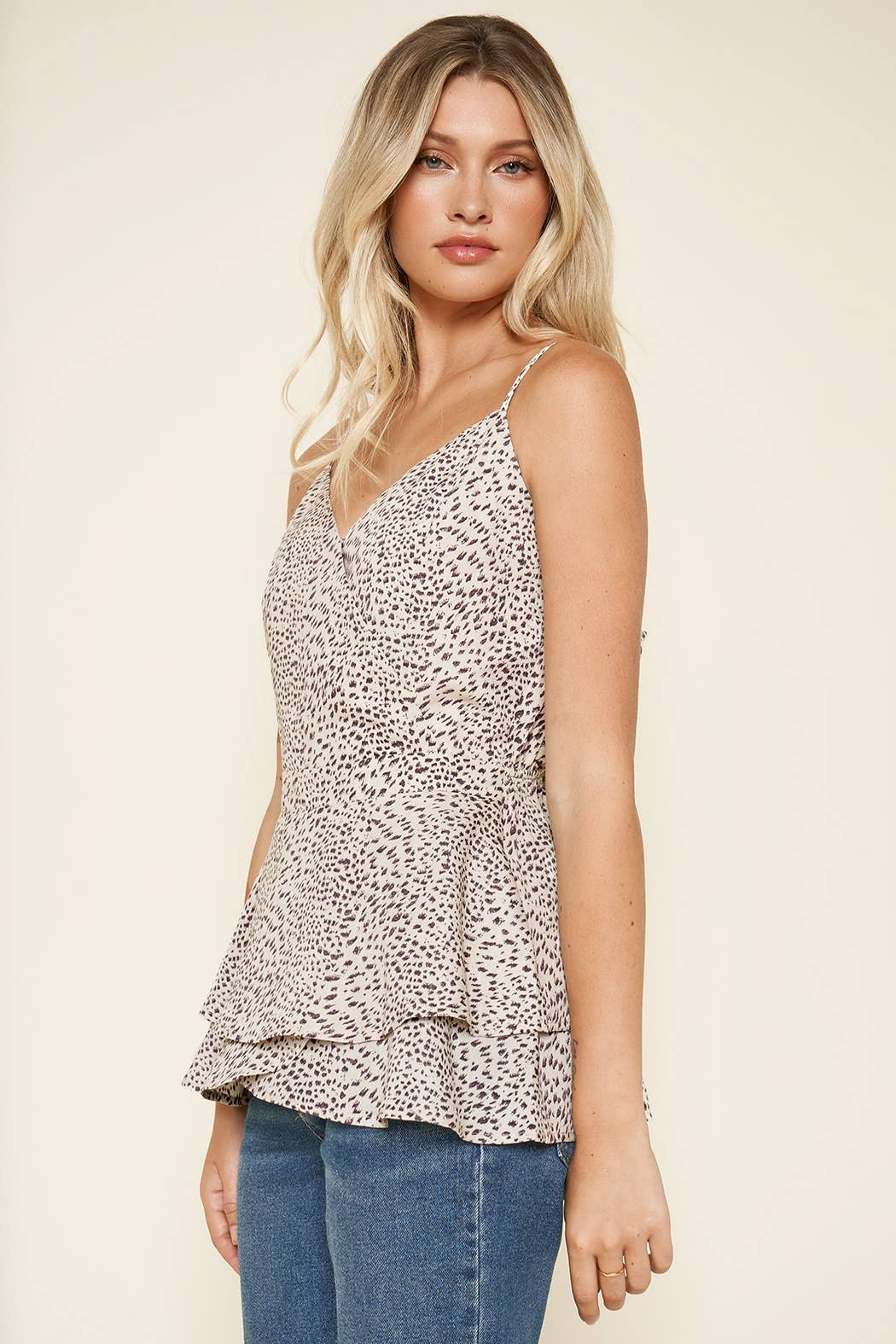 Sugarlips Carnaby Leopard Cami Top - Front Full Image